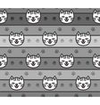 seamless pattern cats heads vector image vector image