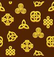 seamless pattern celtic symbols golden celtic vector image vector image