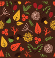 seamless pattern with autumn theme vector image vector image