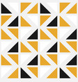 seamless pattern with color triangles vector image vector image