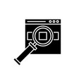 search for products on site black icon vector image vector image