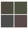set of seamless vintage flourishes pattern vector image vector image