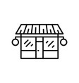 shop front grocery icon outline log vector image vector image