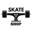 skate shop logo simple style vector image