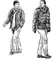 sketch casual city pedestrians vector image vector image