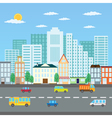 Summer cityscape vector image
