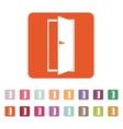 The door icon Exit and login symbol Flat vector image vector image