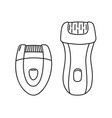 two types of electric epilator epilating device vector image
