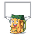 up board backpack character cartoon style vector image