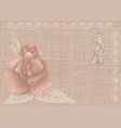 vintage background with rose vector image vector image
