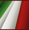 waving italian flag vector image