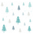 winter christmas forest vector image vector image