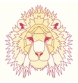 Yellow low poly lined lion vector image