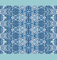 abstract ethnic geometric blue striped carpet vector image vector image