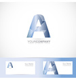 Alphabet letter A logo vector image vector image