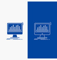 analytics processing dashboard data stats line vector image