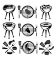 bbq set of meathot dog and burger vector image vector image