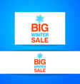 big winter sale template vector image vector image