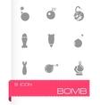 bomb icon set vector image vector image