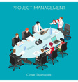 Business 03 People Isometric vector image vector image