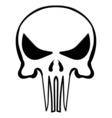 cartoon skull ink sketch vector image vector image