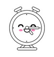 clock kawaii cartoon vector image