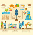 colorful tailoring infographic concept vector image vector image