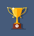 cup icon trophy to the winner for the first place vector image vector image
