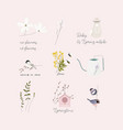 cute spring clip art little elements with hand vector image vector image