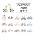 different models of bicycles different bicycle vector image vector image