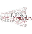 drink word cloud concept vector image vector image