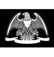Eagle heraldry with blank ribbon