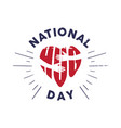 emblem national hug day with hand vector image vector image