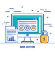 file data center security computer technology vector image