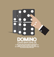 Finger Pushing To Domino Row vector image vector image