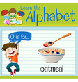 Flashcard letter O is for oatmeal vector image vector image