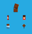 flat icon bitter set of chocolate bar wrapper vector image vector image