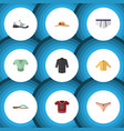 flat icon clothes set of sneakers banyan casual vector image vector image
