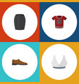flat icon dress set of brasserie t-shirt male vector image vector image