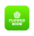 flower decoration icon green vector image