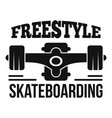 freestyle skateboarding logo simple style vector image vector image