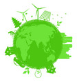 go green ecology concept vector image