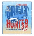 greate hunter shark vector image vector image