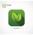 Green ecology icon in flat design vector image