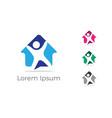 happy home icon real estate logo vector image vector image
