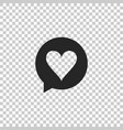 heart in speech bubble icon isolated vector image vector image