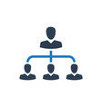 Hierarchy employee management icon