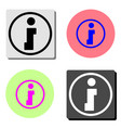 info flat icon vector image