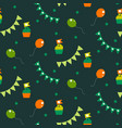 irish celebration party seamless pattern vector image
