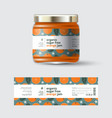jam orange label and packaging jar with cap vector image vector image